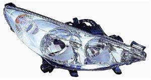 phare avant droit 2 lampes peugeot 207 de 2009 a 2012 pas cher. Black Bedroom Furniture Sets. Home Design Ideas