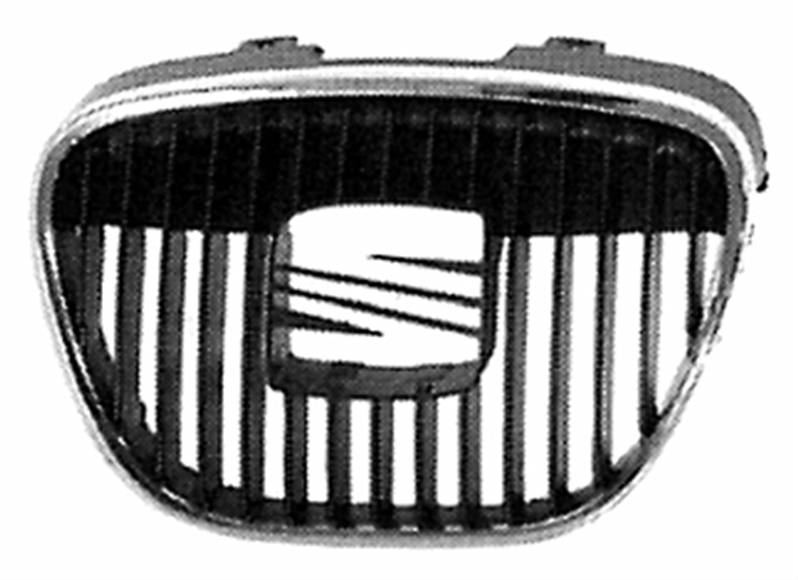 grille calandre noire chrom e seat ibiza iii 2002 2006 neuve phase 1 pare chocs avant centrale sup. Black Bedroom Furniture Sets. Home Design Ideas
