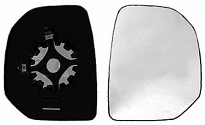 miroir glace r troviseur droit peugeot partner ii 2008 2012 neuf phase 1 verre ext rieur. Black Bedroom Furniture Sets. Home Design Ideas