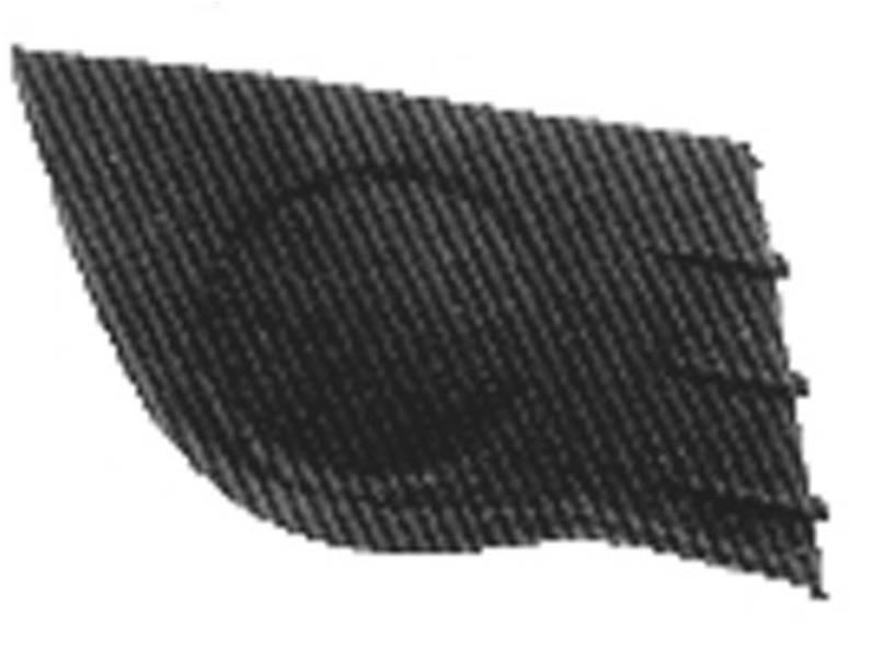 grille calandre droite renault clio iii phase 1 2005 2009 neuve noire. Black Bedroom Furniture Sets. Home Design Ideas