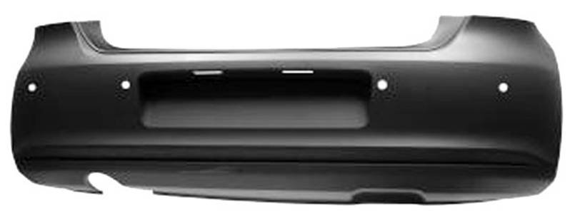 pare chocs arri re volkswagen polo v phase 1 2009 2014 neuf trous radar grande sortie d 39 chappement. Black Bedroom Furniture Sets. Home Design Ideas