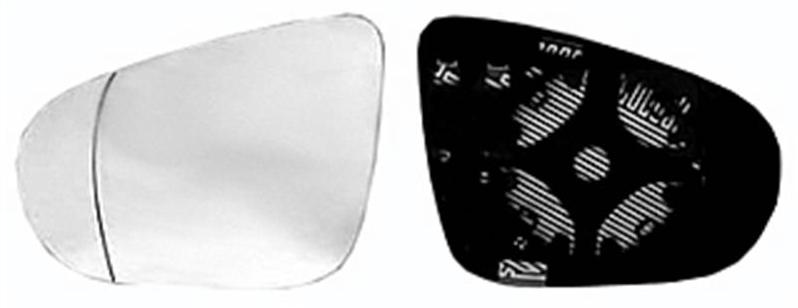 miroir glace r troviseur gauche volkswagen golf vi 2008 2012 neuf d givrant ext rieur asph rique. Black Bedroom Furniture Sets. Home Design Ideas