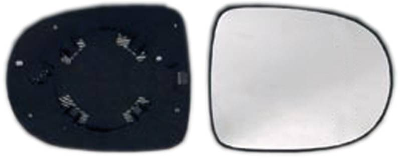 miroir glace r troviseur droit renault clio iii 2009 2012 neuf verre ext rieur phase 2. Black Bedroom Furniture Sets. Home Design Ideas