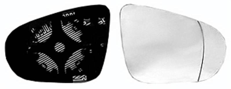 miroir glace r troviseur droit volkswagen golf vi 2008 2012 neuf verre d givrant ext rieur asph riqu. Black Bedroom Furniture Sets. Home Design Ideas