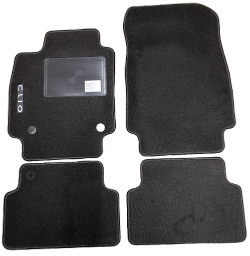 kit 4 tapis de sol auto pour renault clio iv 2016 2019 avec sigle clio avec clips neuf