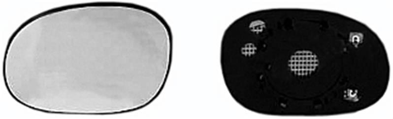 miroir glace r troviseur gauche peugeot 206 plus 206 2009 neuf verre d givrant ext rieur. Black Bedroom Furniture Sets. Home Design Ideas