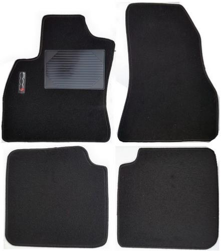 kit de 4 tapis de sol fiat 500l moquette avec sigle 500l. Black Bedroom Furniture Sets. Home Design Ideas