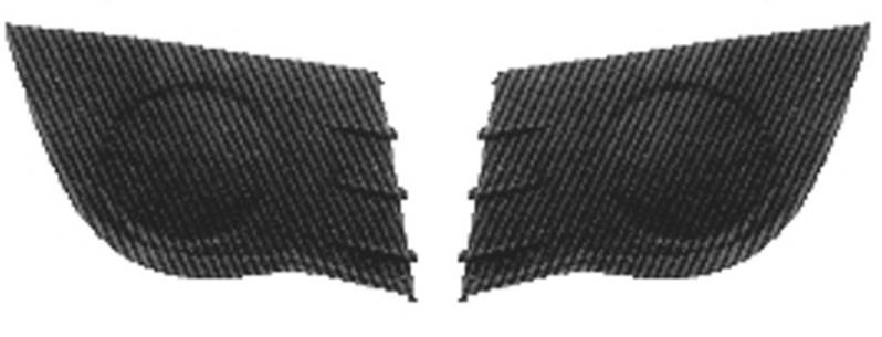 grilles calandre droite gauche renault clio iii 2005 2009. Black Bedroom Furniture Sets. Home Design Ideas