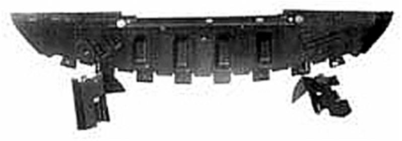 cache protection sous pare chocs renault megane ii 2002 2005 neuf d flecteur pare chocs avant noir. Black Bedroom Furniture Sets. Home Design Ideas