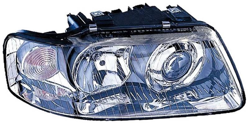 phare optique avant droit audi a3 i phase 2 2000 2003 lectrique neuf projecteur feu principal. Black Bedroom Furniture Sets. Home Design Ideas